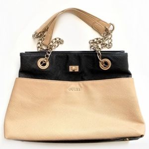Guess Authentic Purse nude nude pink and black